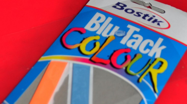 coloured blu tack free picture