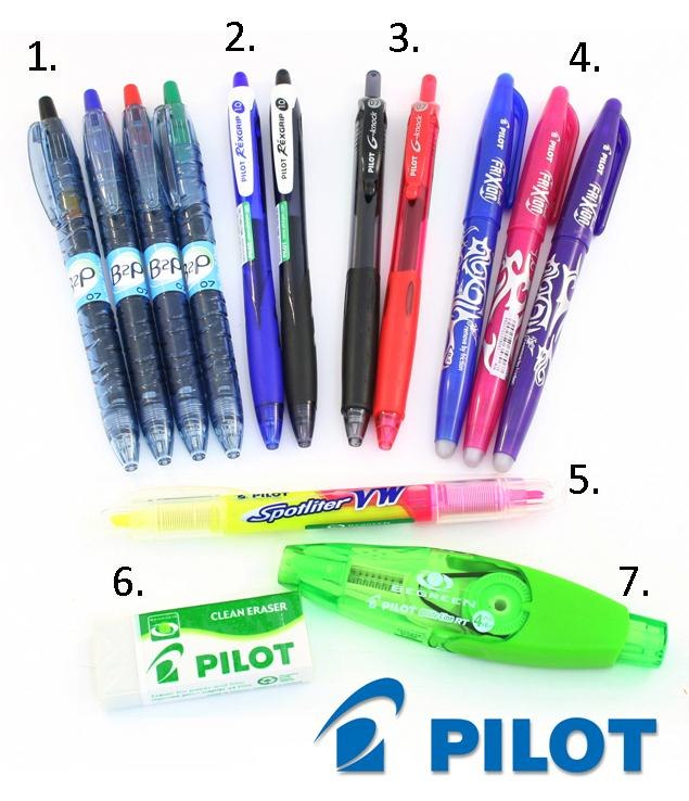 back to school stationery Pilot BegreeN range pen prize pack