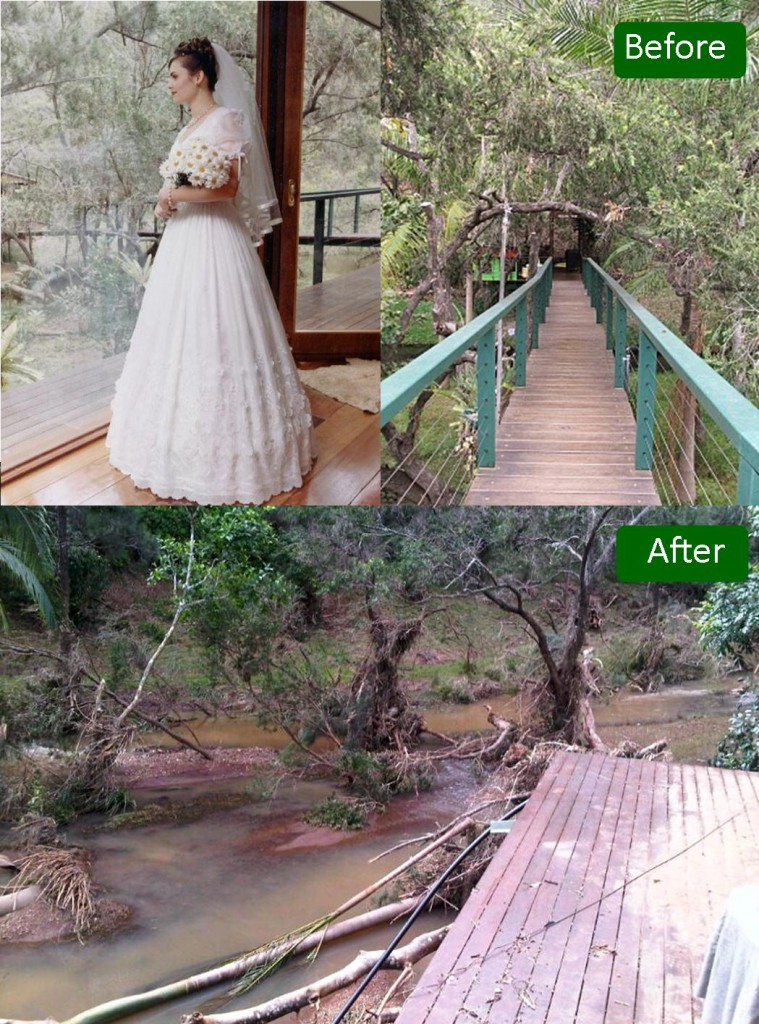 queensland floods clean up before and after photos