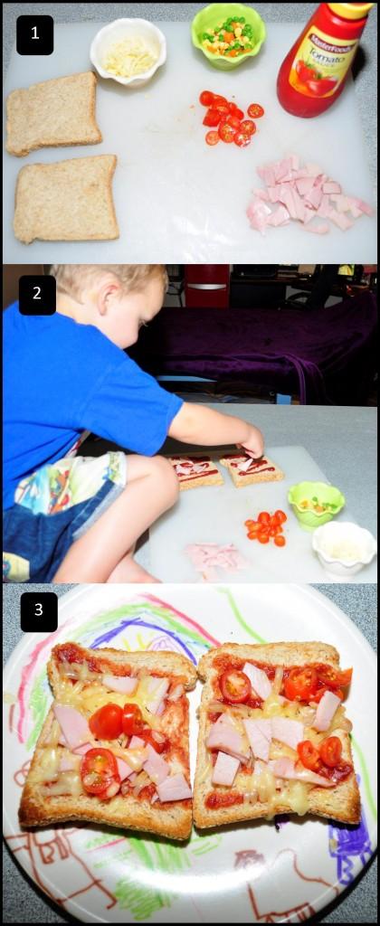 kids food pizza bread