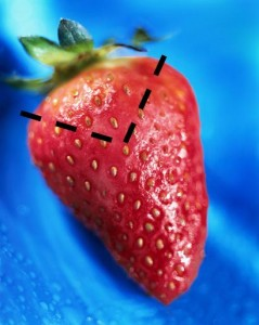 make a heart shaped strawberry