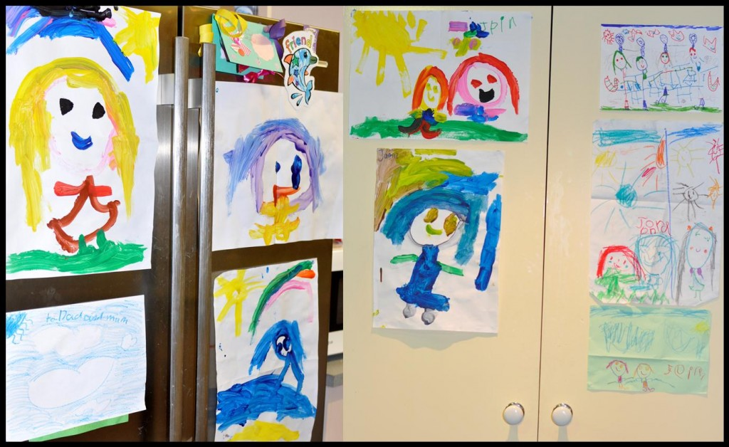 Storing children's artwork