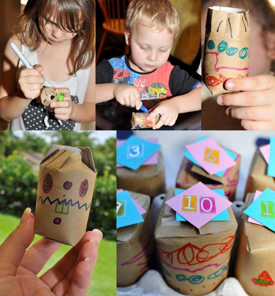 How to make and Easter Advent Calendar: Toilet Roll Easter Egg