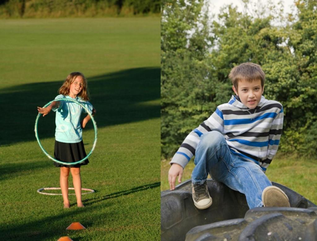 Activities for preschool children: outdoor obstacle course