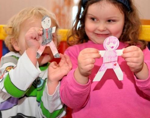 Activities for preschool children: paper dolls