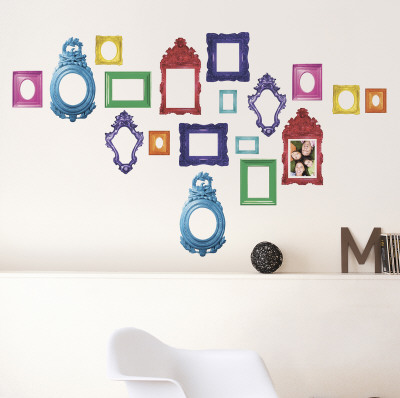 wall decals frames storing children's artwork