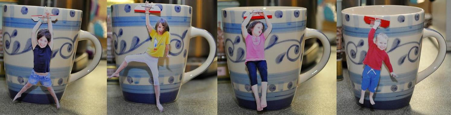 father's day craft idea: Personalised Photo Tea Bags