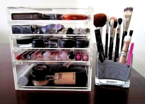 the make up box clear drawers make up organiser