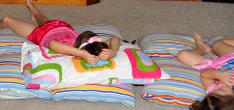adventurous things to do with kids: sleep out in the family room