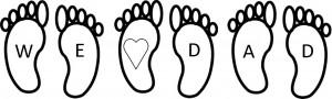 feet photograph three children