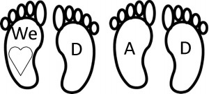 feet photograph two children