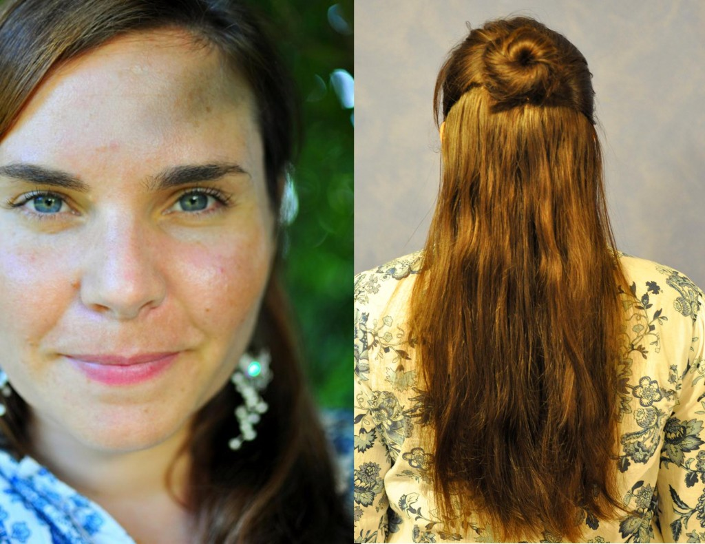 hair style for mum -- half bun