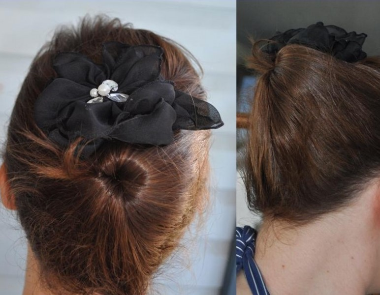 hair style for mums -- inside out bun