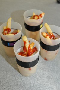 school holiday food ideas -- hot chips in a cup