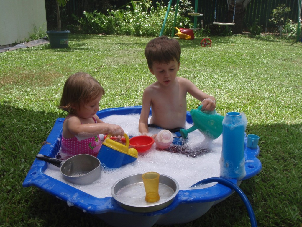 school holiday ideas -- water play