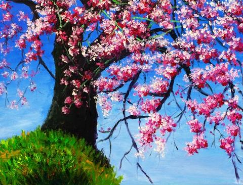 blossom tree painting