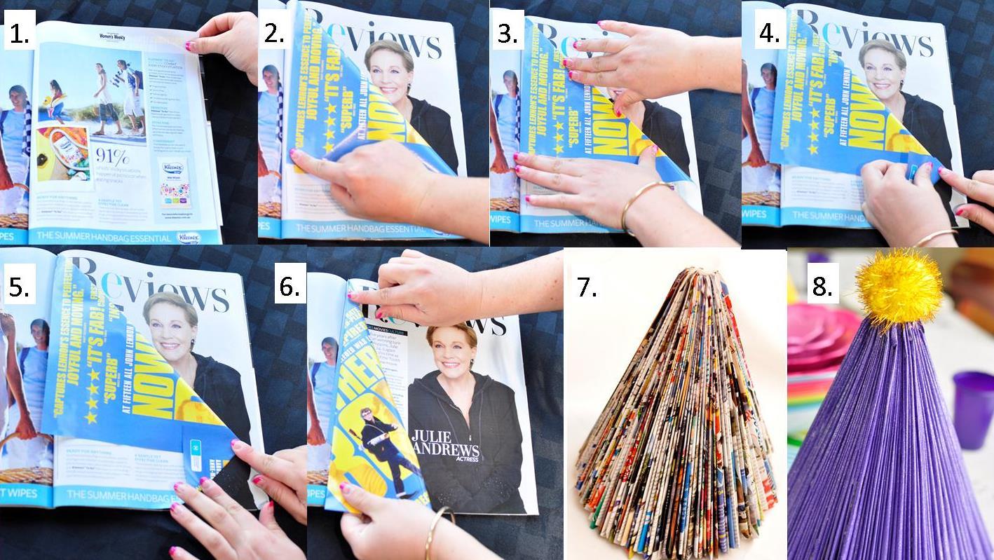 Christmas Craft: Magazine Christmas Tree | Be A Fun Mum
