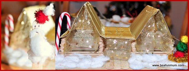 christmas craft Santa's house