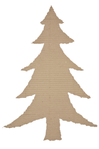 cardboard Christmas Tree Shape