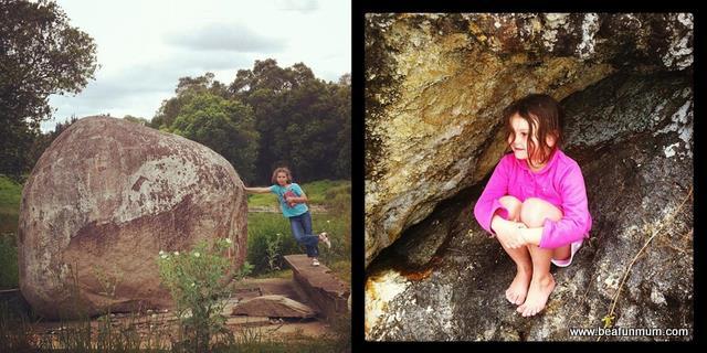 outdoor kids -- rocks
