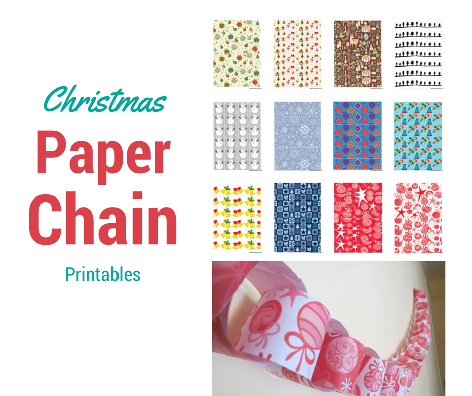photo about Free Printable Christmas Paper named Xmas Paper Chain Be A Enjoyment Mum