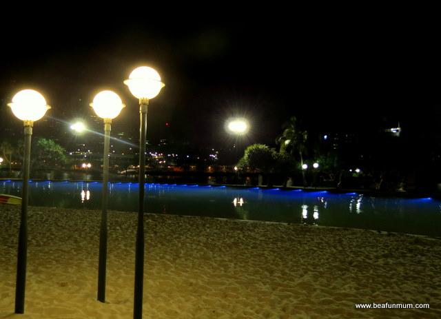 Southbank Brisbane at night