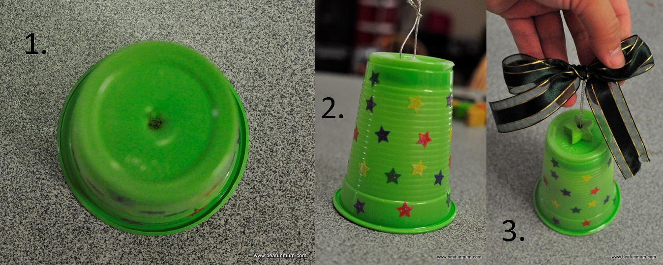 Plastic cup bell be a fun mum - Crafts made from plastic cups ...