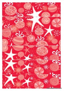 christmas paper chain -- red and white star