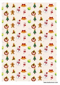 christmas paper chain -- snowman gingerbread man christmas tree