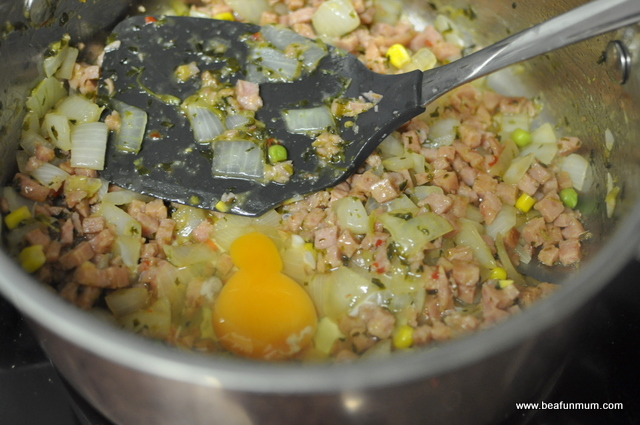fried rice recipe -- add egg