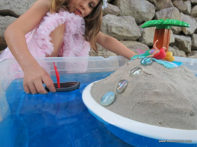Imaginative Play Scene -- Desert Island