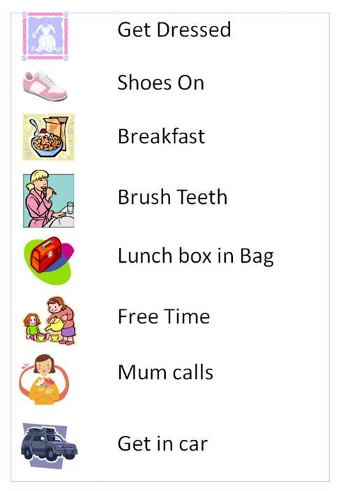 organising a family -- chore chart