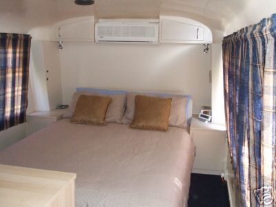 Living in a bus -- bedroom