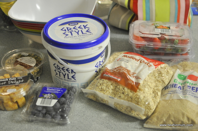 breakfast yoghurt mix