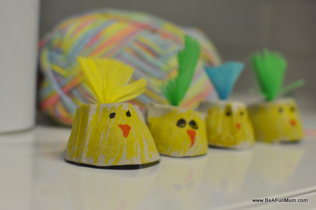 Easter craft egg carton chicky be a fun mum