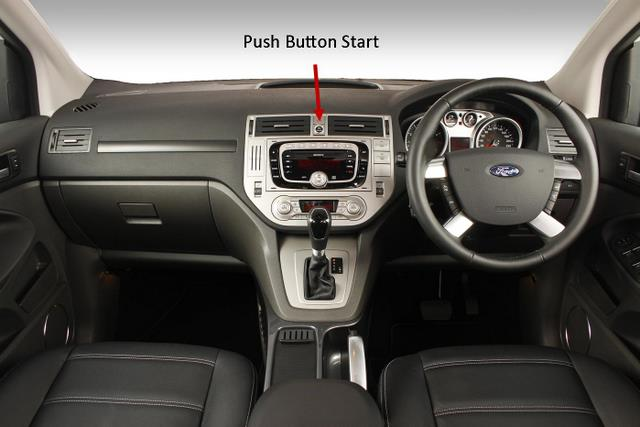 Ford Kuga Review -- push button start