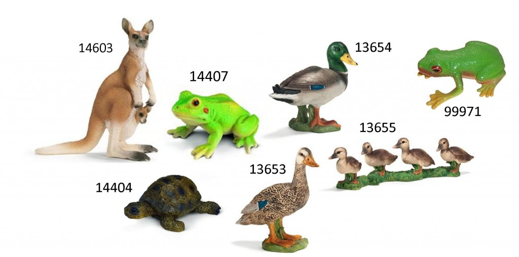 schleich pond animials
