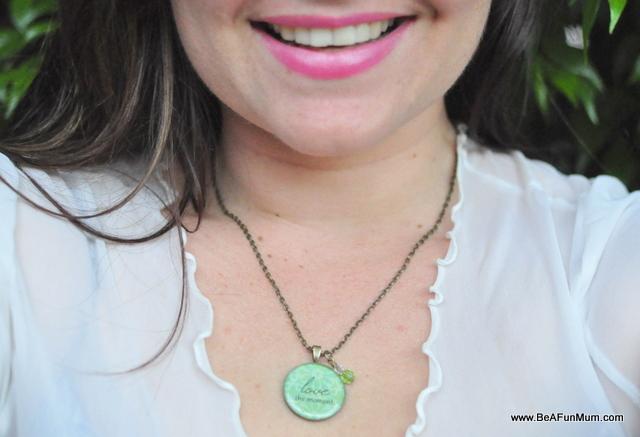 inspiration resin pendant necklace brisbane