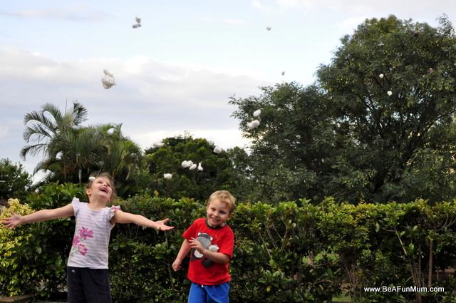cotton ball throw