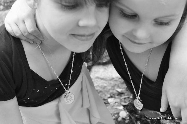resin inspiration necklace brisbane -- best friends