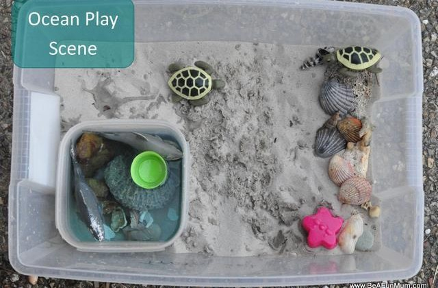 Imaginative Play Scene: Ocean