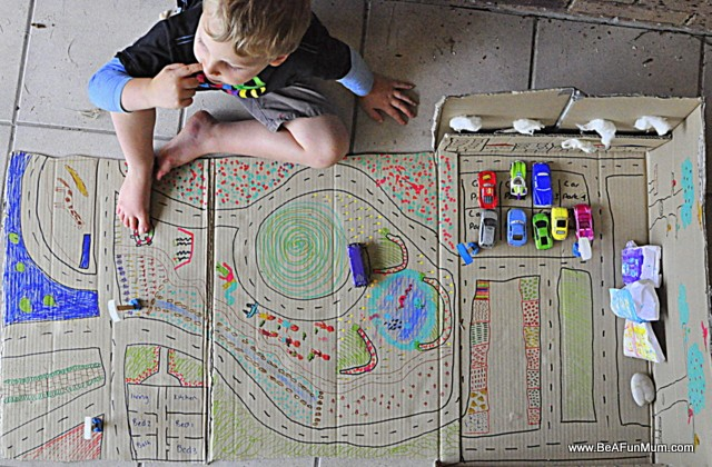 Play Scene: Cardboard Box City