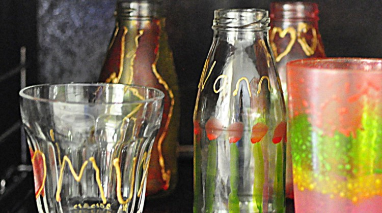 Glass Painting for Mother's Day