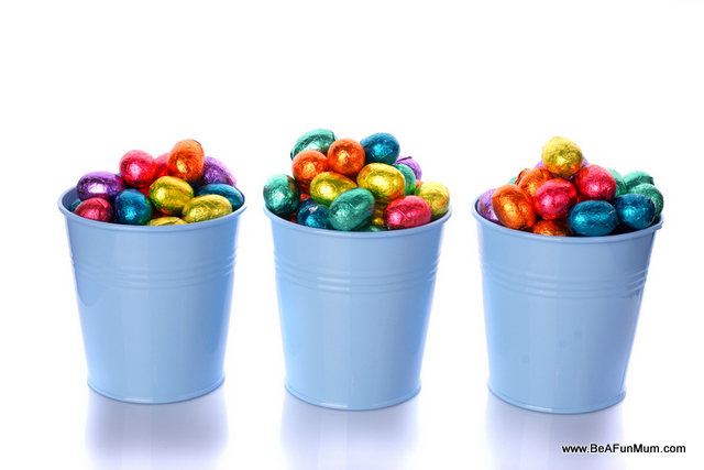 Easter Eggs in tin