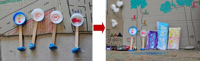 milk bottle lid street signs -- milk bottle lid craft