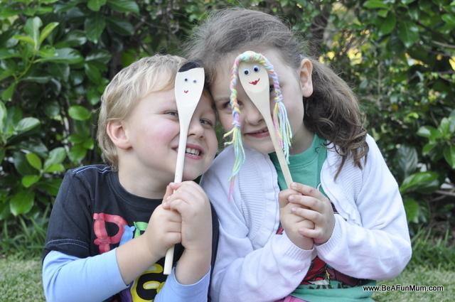 wooden spoon people craft