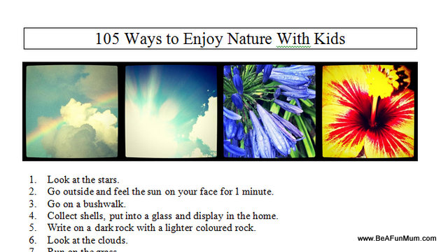 ways to enjoy nature with kids