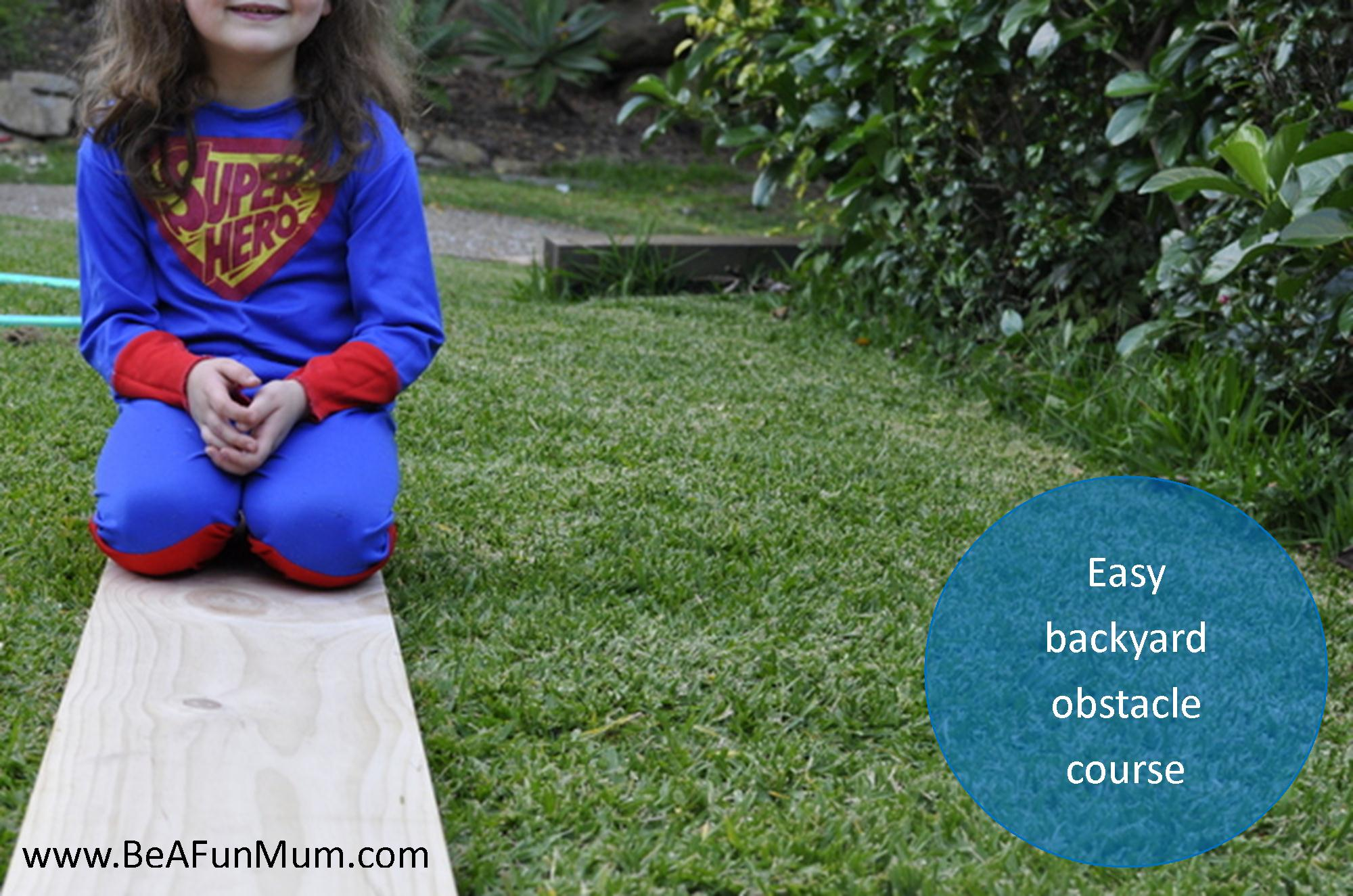 backyard obstacle course be a fun mum