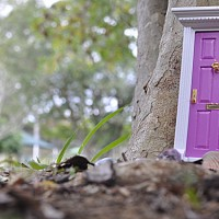 imaginative play scene -- the fairy door