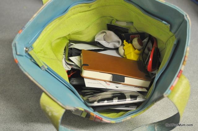 organising handbag